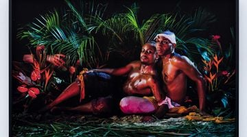 Contemporary art exhibition, Christopher Udemezue, Under the Palm Tree Leaves at Anat Ebgi, Culver City, USA