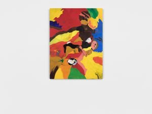 Our Totem Has a Sphinx on Top (Jean Baptiste Blues) by Robert Colescott contemporary artwork