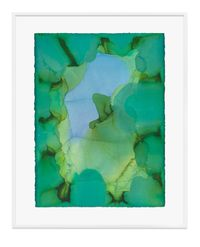 Untitled (Pale green) by Jason Martin contemporary artwork painting, works on paper