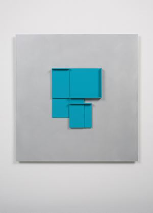 Mid Blue Maquette by Toby Paterson contemporary artwork