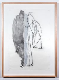 The power and movement of the long yam by John Wolseley contemporary artwork print