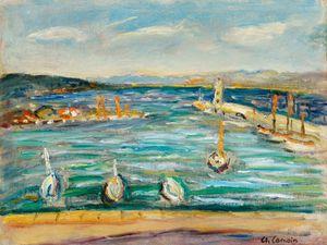 L'entrée du port de Saint-Tropez by Charles Camoin contemporary artwork