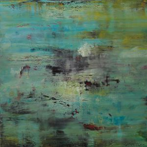 Dunkle Materie Helle Energie by Charlotte Acklin contemporary artwork painting