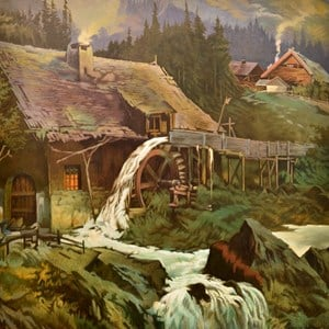The Waterwheel Dream by Dick Frizzell contemporary artwork