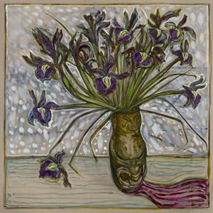 irises by Billy Childish contemporary artwork