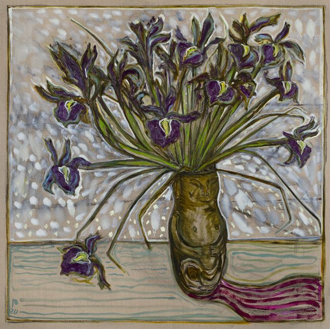 irises by Billy Childish contemporary artwork