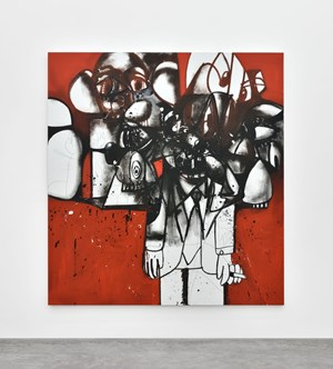 The Last Man Standing by George Condo contemporary artwork