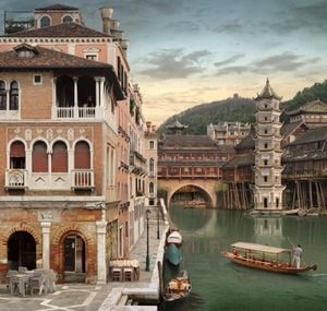 The Lion & The Phoenix (after Carpaccio) by Emily Allchurch contemporary artwork