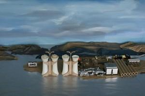 Energy Plant (aerial) by Elaine Campaner contemporary artwork
