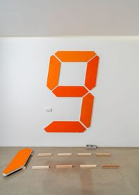 Painting of Change - 002 by Tatsuo Miyajima contemporary artwork painting, installation