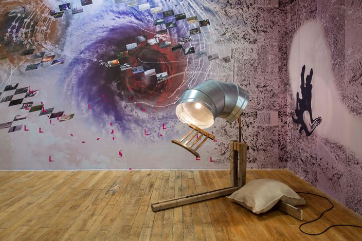 Exhibition view: Group Exhibition, Scènes dans une bulle de cristal — Seen in a crystal ball, Galerie Chantal Crousel, Paris(25 January—29 February 2020). Courtesy theartists and Galerie Chantal Crousel, Paris. Photo:Martin Argyroglo.