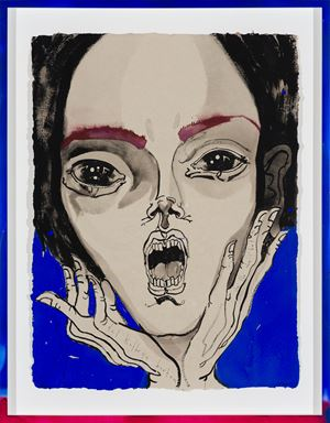 she the one i bet on by Del Kathryn Barton contemporary artwork