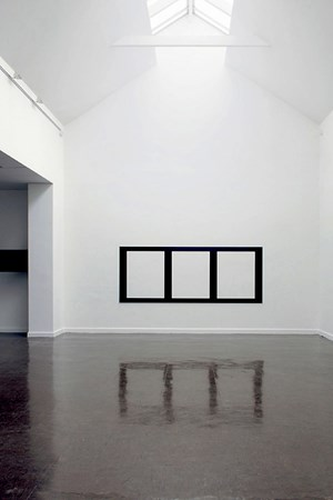 Reflective Editor: Three Horizontal Rectangular Holes by Douglas Allsop contemporary artwork