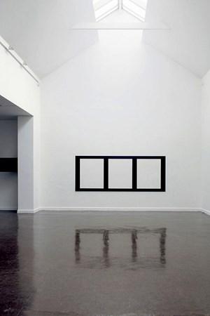 Reflective Editor: Three Horizontal Rectangular Holes by Douglas Allsop contemporary artwork