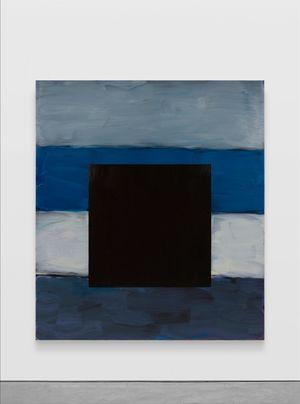 Black Square Blue by Sean Scully contemporary artwork