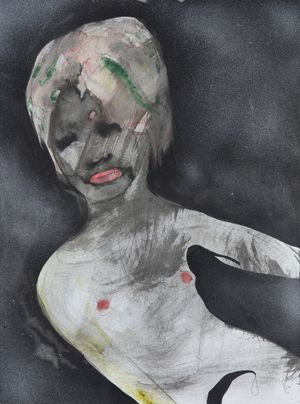 Der Erste Erguss (The first ejaculation) by David Lehmann contemporary artwork painting, works on paper, drawing