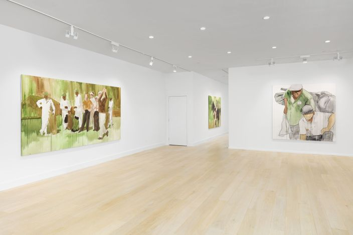 Exhibition view: Henry Taylor, Disappeared, but a tiger showed up, later, Hauser & Wirth, Southampton (1 July–1 August 2021). © Henry Taylor. Courtesy the artist and Hauser & Wirth. Photo: Lance Brewer.