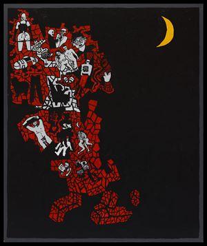 Night (Island of Dreams) by Derek Boshier contemporary artwork