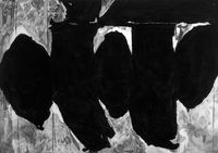 Untitled (After Motherwell, Elegy to the Spanish Republic No. 172 (With Blood), 1989-90) by Robert Longo contemporary artwork works on paper, drawing