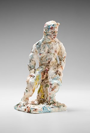Statue (seated) by Stephen Benwell contemporary artwork