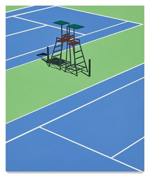 Empty Courts, Queens, NY by Daniel Rich contemporary artwork