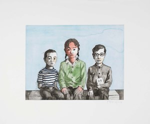 Siblings by Zhang Xiaogang contemporary artwork