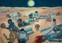 Rehearsing death by Ndidi Emefiele contemporary artwork painting