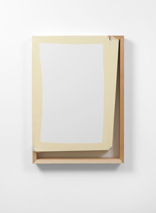 Tight (White/Off White) by Angela De La Cruz contemporary artwork