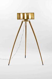 Zelkova Brass Floor Lamp by Jong Sun Bahk contemporary artwork sculpture