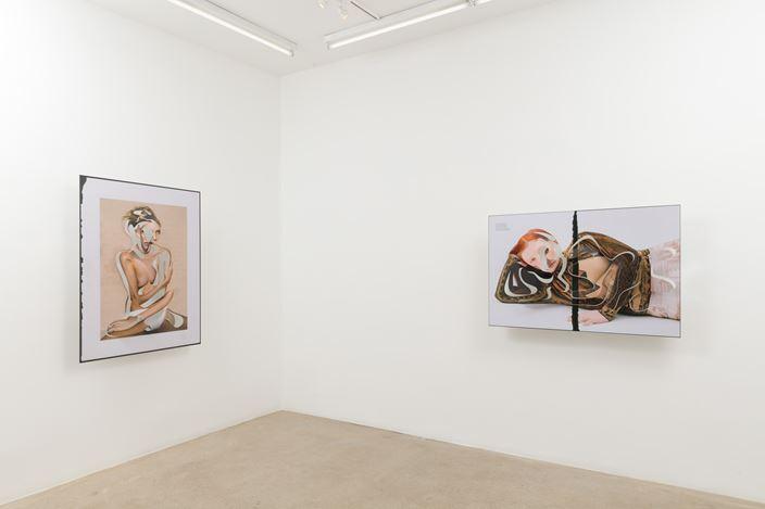Exhibition view: Amie Dicke, ONE-LINER,Anat Ebgi, Los Angeles (11 January–16 February 2020). Courtesy Anat Ebgi.