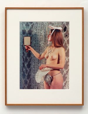 Study for A Divertissement: Jo and PorcelainCache-Sexe by Rose English contemporary artwork