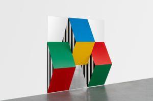Prismes et miroirs : Haut-relief - DBPF-17, travail situé by Daniel Buren contemporary artwork