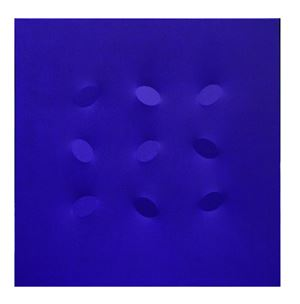 9 ovali blu by Turi Simeti contemporary artwork