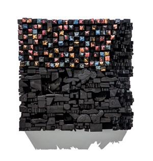 Number 16C by Leonardo Drew contemporary artwork mixed media