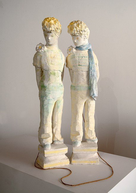 Twins with skipping rope, 1973 by Linda Marrinon contemporary artwork