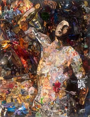 Repro (Saints): Saint Sebastian, after Jose Ribera by Vik Muniz contemporary artwork
