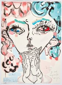 boom we go our separate ways by Del Kathryn Barton contemporary artwork mixed media