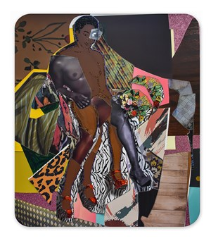 Marie with Four Legs by Mickalene Thomas contemporary artwork