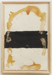 Franja negra central by Antoni Tàpies contemporary artwork painting, works on paper