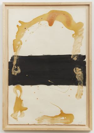 Franja negra central by Antoni Tàpies contemporary artwork