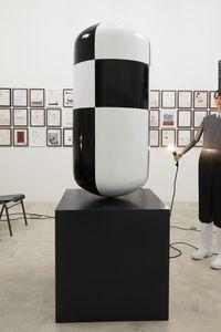 Big Checkered Pill by Thomas Zipp contemporary artwork sculpture