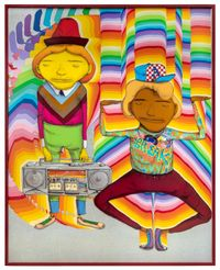 Looking for the perfect beat by OSGEMEOS contemporary artwork mixed media
