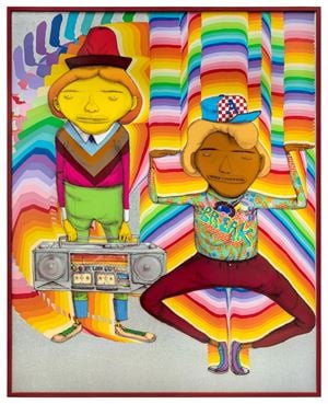 Looking for the perfect beat by OSGEMEOS contemporary artwork