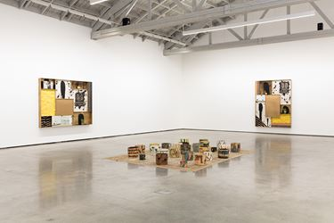 Exhibition view: Rashid Johnson, The Rainbow Sign, David Kordansky Gallery, Los Angeles (7 April–19 May 2018). Courtesy David Kordansky Gallery, Los Angeles. Photo:Fredrik Nilsen.