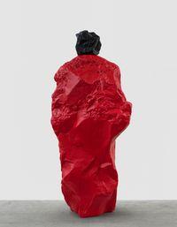 black red nun by Ugo Rondinone contemporary artwork sculpture