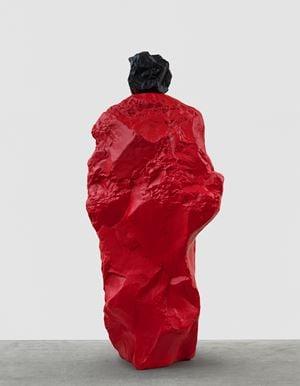 black red nun by Ugo Rondinone contemporary artwork