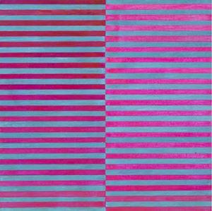 Ricerca del colore. Viola su celeste by Dadamaino contemporary artwork