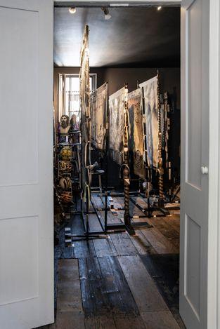 Exhibition view: Cathie Pilkington, Estin Thalassa, Karsten Schubert, London (1 June–9 July 2021). Courtesy Karsten Schubert.