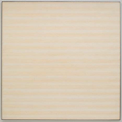 Agnes Martin, Desert Flower (1985). Acrylic and pencil on linen. 183.2 x 183.2 cm. © Estate of Agnes Martin / Artists Rights Society (ARS), New York. Courtesy Pace Gallery.