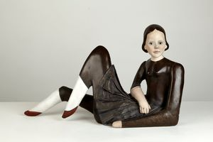 Reclining Doll by Cathie Pilkington contemporary artwork